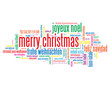 """MERRY CHRISTMAS"" Tag Cloud (happy xmas greetings santa claus)"