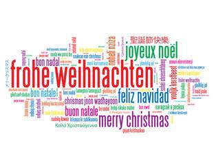 """""""FROHE WEIHNACHTEN"""" Schlagwortwolke (christmas noel navidad))"""