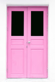 pink Greek Style door