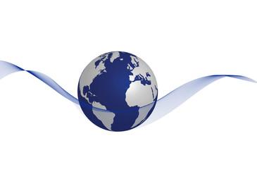 Globus weiß