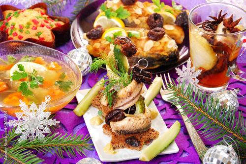 herring appetizer for christmas - 45240654