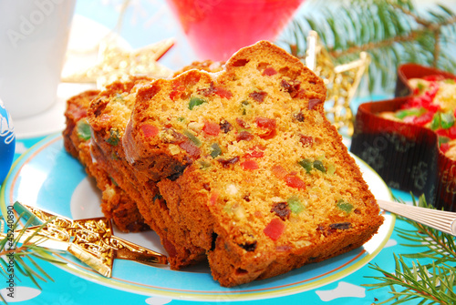 dried fruits cake for christmas