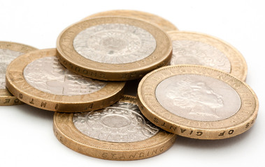 two pound coins