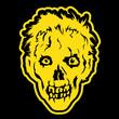 Zombie head in black background