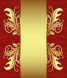 Red with gold vintage card. Vector illustration