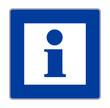 Info Schild Blau