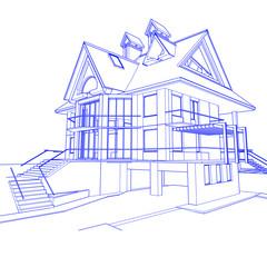 Plan de maison architecturale
