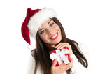 Smiling Christmas woman