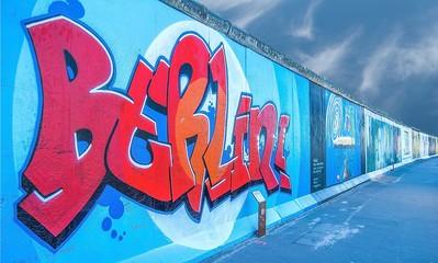 Mur de Berlin, Allemagne.