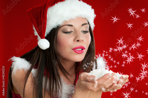 Christmas Santa Claus girl