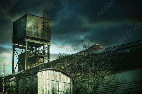 creepy old factory tower