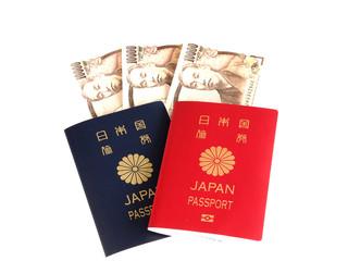 パスポートと一万円札