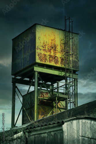 derelict factory tower