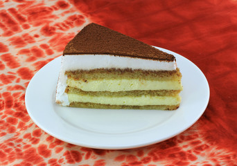 Beautiful tasty cake close up shoot