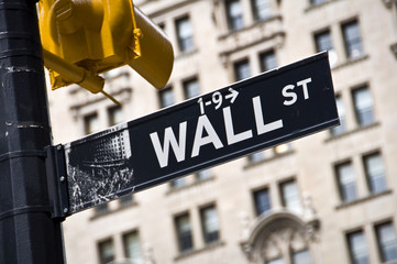 Panneau Wall Street - New York