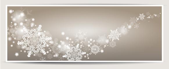 Schneeflocken Banner