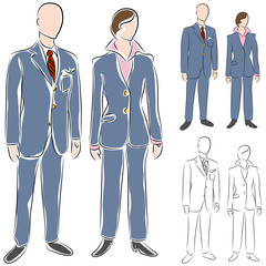 Business Suit Drawing Set
