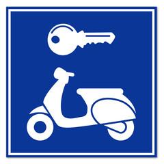 Señal alquiler de scooter