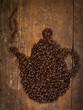 Kaffee Bohnen kanne