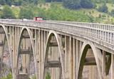Bridge on Tara river in Durdevica, Montenegro. poster