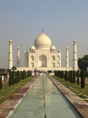 Beautiful white marble of Taj Mahal