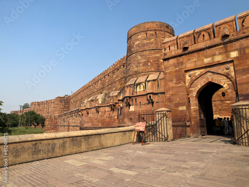 Entrance of the Agra Fort.