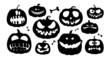 Halloween pumpkins characters