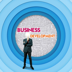 Business word cloud for business concept, Business Development