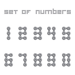 Abstract Numbers - Chain Sign Set One
