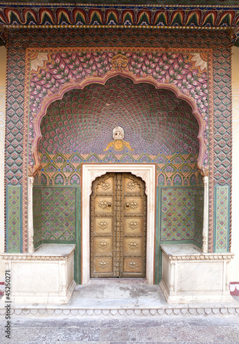 Small gate of Jaipur City Palace
