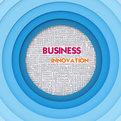 Business word cloud for business concept, Business Innovation