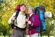 Senior tourists couple.