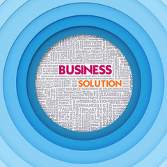 Business word cloud for business concept, Business Solution