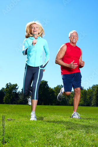Happy jogging couple.