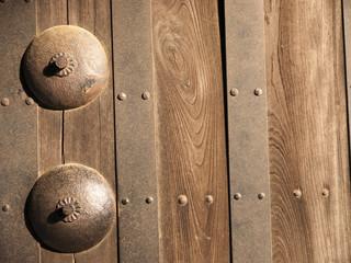 Part of Japanese castle door