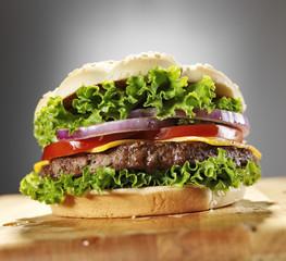 dramatic cheeseburger