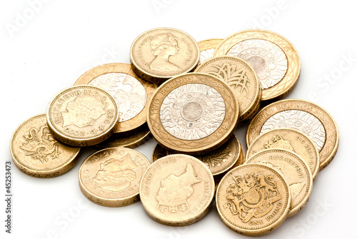 One and two pound coins