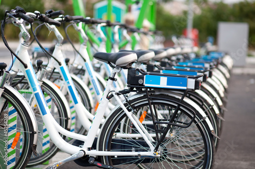 Leinwanddruck Bild electric bicycles