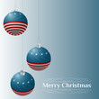 Patriotic theme Christmas card