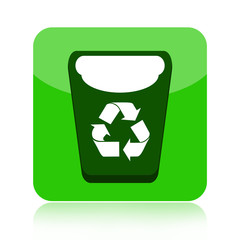 Recycle bin green icon
