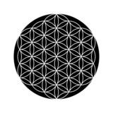 Blume des Lebens Symbol Schwarz Weiß 2