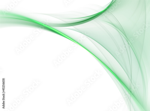 Gentle green fractal wave on white background