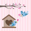 love birds valentine greeting design