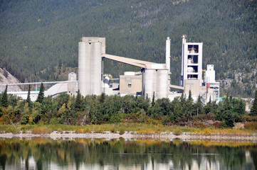 Cement Plant located in Exshaw Alberta in the Rocky mountains