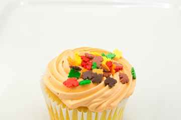 Cupcake autumn decoration