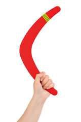 Hand with boomerang