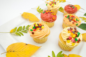 Autumn decoration cupcake
