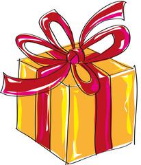 Geschenk Paket Illustration