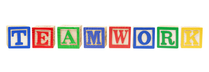 Alphabet Blocks with Teamwork Concept