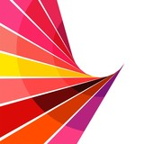 Abstract background with colorful rays (vector version)